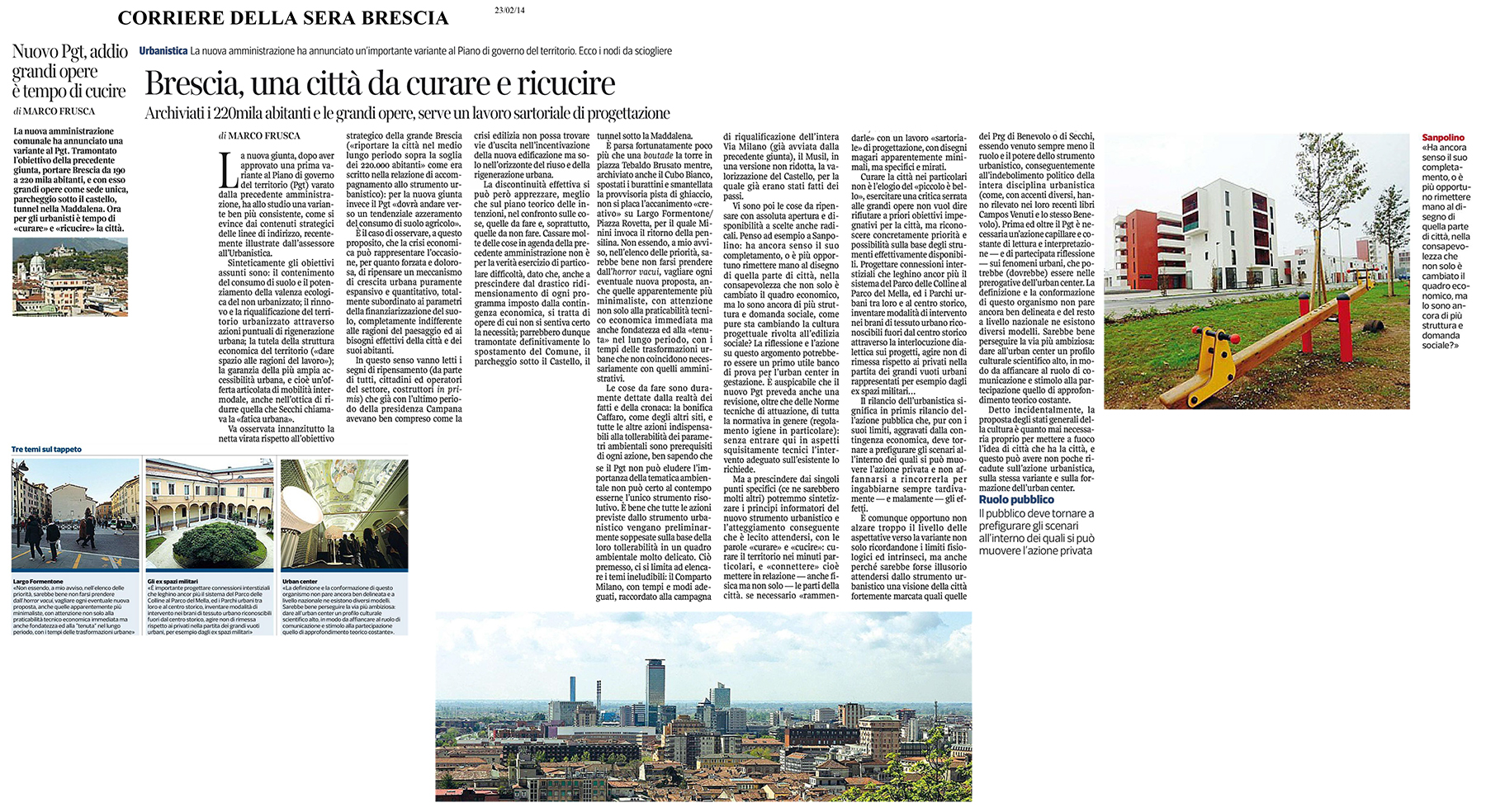 La forma e il volto della città / Brescia, una città da curare e ricucire