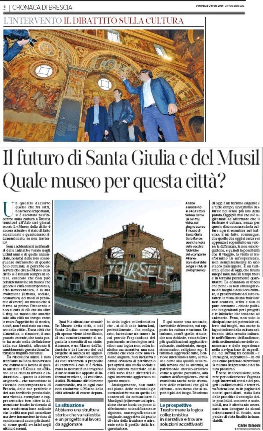Luoghi cose musei / Il futuro di Santa Giulia e del Musil. Quale museo per questa città?